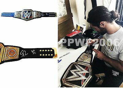 Wwe Seth Rollins Autographed World Heavyweight Adult Belt With Exact Pic Proof