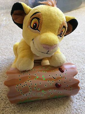 Disney Baby Lion King Simba Log Plush Dreamy Stars Night Light Star Projector