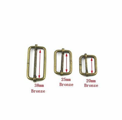 Bronze Metal Slide Strap Adjusters (x 2)