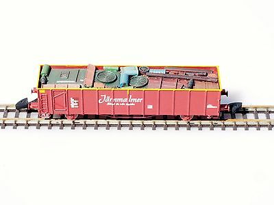 FR Z-scale 46.810 Järnmalmer Swedish Gondola SJ class Elos881 METAL w/ load  NEW