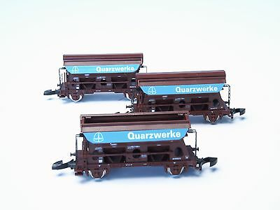 82374 Marklin Z-scale DB Quartz Quarry Quarzwerke Hopper  3 Car Set NIB