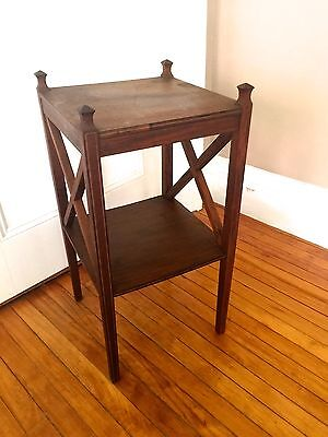 ANTIQUE ARTS CRAFTS Hardwood SIDE TABLE~Hand Crafted