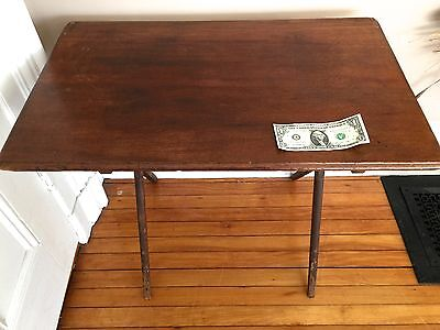 Antique  Folding Wood Sewing/MILITARY Table  c.1910~