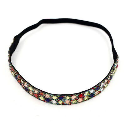Womens Colorful Mix Colors Crystal Rhinestone Wedding Party Headband Hair Band