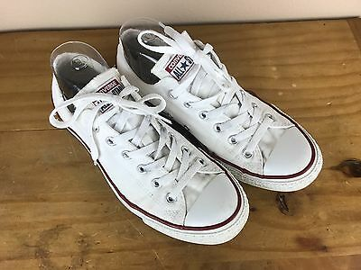 CONVERSE ALL STAR White lace up Tennis shoes M8 W10