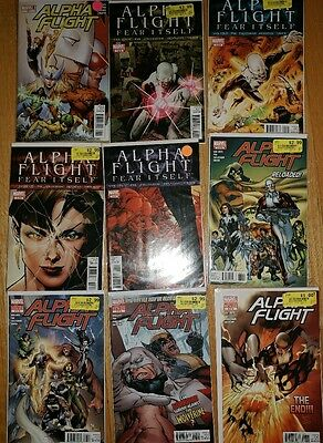 Alpha Flight #0 1 2 3 4 5 6 7 8 Fear Itself Marvel Comics