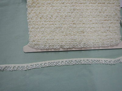 Gathered Lace Cream Lace  20 metres  (206B)