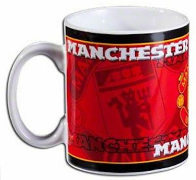 Manchester United FC Official Ceramic Football Crest Tea Coffee Mug New Boxed