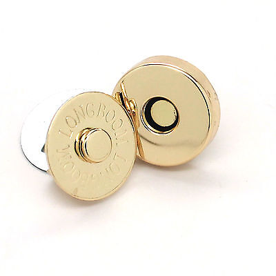 """Bag Clasp Snap Set Magnetic Brass 3/4"""" 3092-01"""
