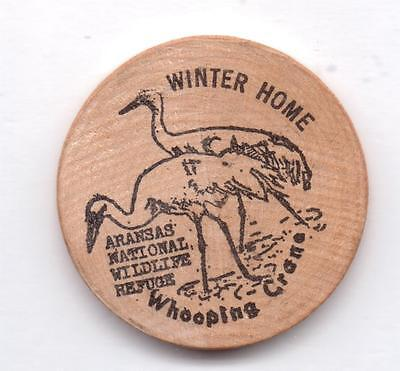 Winter Home -Whooping Crane-1982 Show-Corpus, Christi,texas-One 1/2 Inches Width