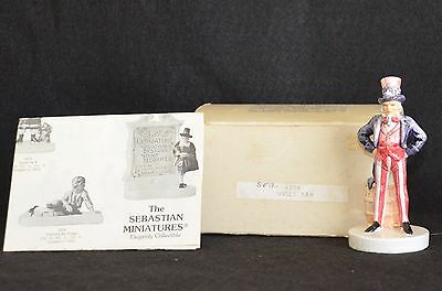 Sebastian Miniatures ~Uncle Sam 6206 (Sml357) New In Box - Retired