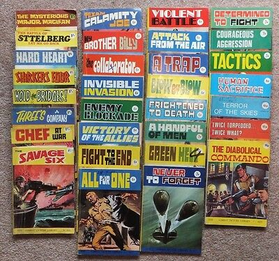 COMBAT PICTURE LIBRARY: 31 comics numbers 272 to 1077. Cover price 1/- to 18p.