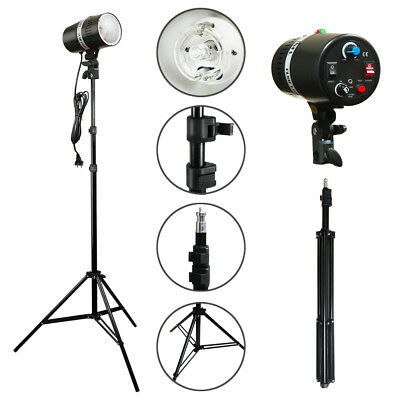 2PCS 160W Photography Studio Lighting Kit Strobe Photo Flash Light Stand Holder