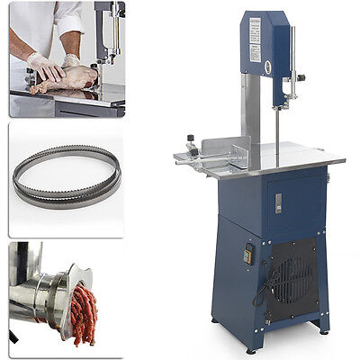 (2) Free Blade Industrial 550W Stand Up Meat Band Saw/Grinder Electric Processor