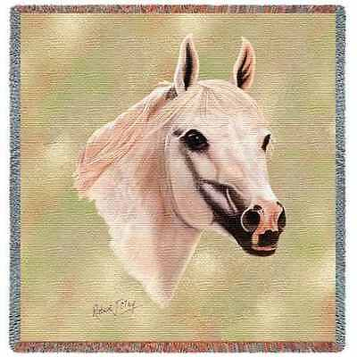 Lap Square Blanket - White Arabian by Robert May 2366