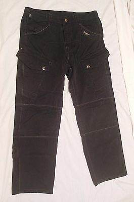 TRIUMPH MOTORCYCLE BLACK DENIM JEANS SIZE 34 x 31 NICE