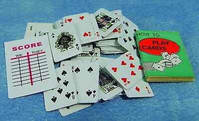 DOLLS HOUSE 1/12th SCALE PLAYING CARDS SET AND SCORE CARD