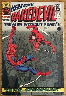 DAREDEVIL Issue 16 Spider-Man, Marvel Comics May 1966 (12c price cover)