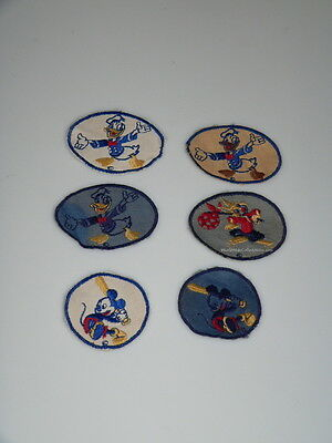World War Two Disney Denuim Sew On Patches Mickey Mouse Donald Duck Briar Rabbit
