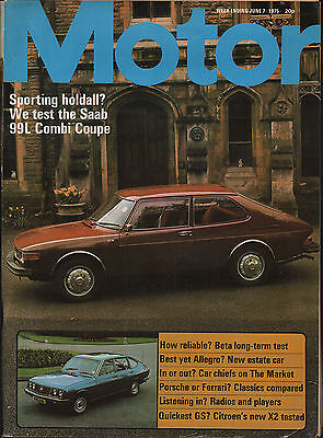motor magazine 1975 . porsche or ferrari ? classics compared .