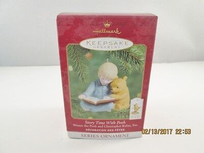 Hallmark Disney Ornament STORY TIME WITH POOH Keepsake Classic 2nd In Series