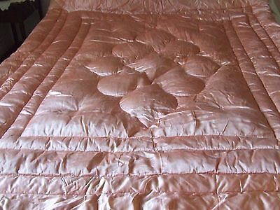 Double Bed Size Pink Satin Feather Quilt.