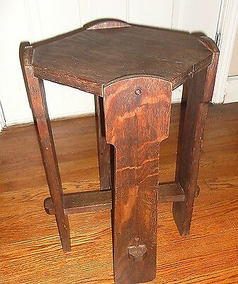 Antique Mission Oak Arts and Craft Stand Flower  FernTable