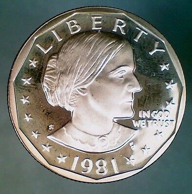 1981-S Proof Type 2 Susan B. Anthony Dollar