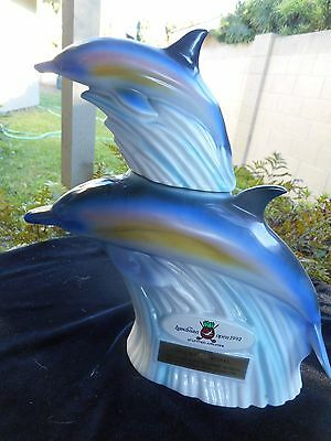 "1992 United Airlines Hawaiian Open Golf Decanter ""Dolphins""Suntory"