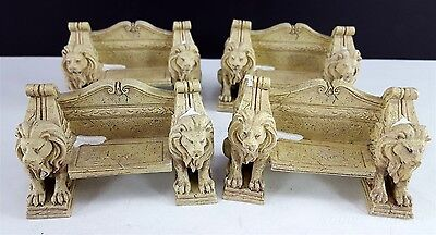 Dept 56 Camden Park Square 4 LION BENCH SECTIONS Dickens Village Accessory Part