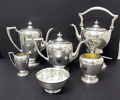 Spectacular Antique Sterling J.e. Caldwell 8 Piece Tea Set Signed