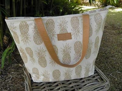 Alola Pineapple Tote Bag, Travel Bag, Beach bag  OOAK