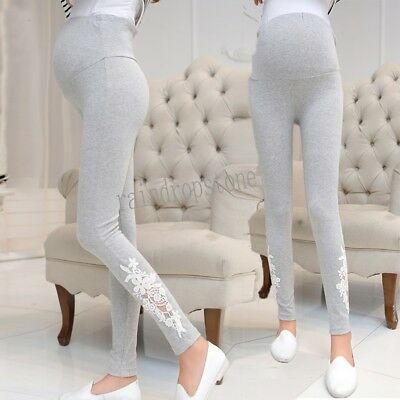 Pregnant Womens Slim Pants Elastic Trousers Maternity Belly Abdominal Leggings