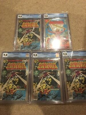 Masters Of The Universe #1 Cgc 9.4 He Man And 4 Battlestar Galactica #1 Cgc 9.0