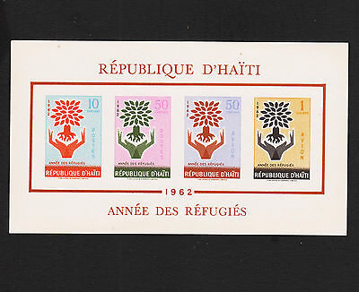 1962 Haiti Refugee Souvenir Sheet Imperf Sc#C192a Mint Never Hinged
