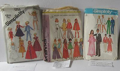 3 Vintage Barbie Pattern Sewing Clothing Outfits Pattern McCall's Simplicity