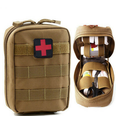 Tactical Military First Aid Kit Bag Emergency Medical Survival Rescue Box