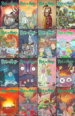 Rick and Morty 1 2 3 4 5 6 7 8 9 10 11 12 13 14 15 16 A B lot Oni comic 1st