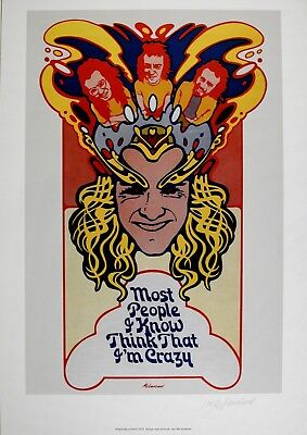 Billy Thorpe 'Most People' Rare Ltd. Ed. Band Poster