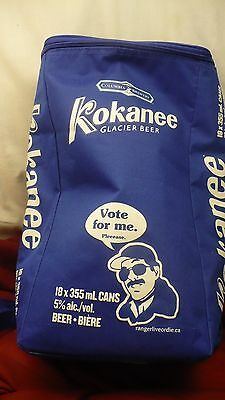 Kokanee beer VOTE FOR ME insulated cooler knapsack 18 can columbia brewery bag