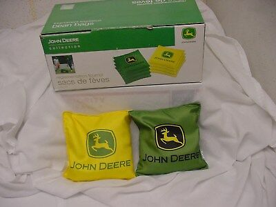 8 COUNT SET  16 oz JOHN DEERE CORNHOLE BEAN BAGS NEW TOSS TOURNAMENT