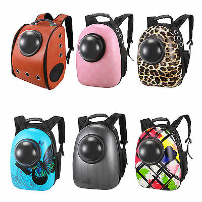 Breathable Pet Carrier Cat Dog Backpack Bag With Transparent Window Outdoor