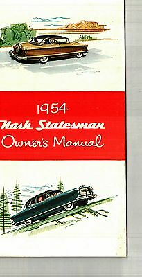 1954 Nash Statesman Owner's Manual - Nos  New Old Stock