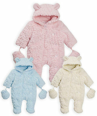 Girls Boys Babygrow New Kids Winter Baby Pram Suit Unisex Onsie NB - 9 Months