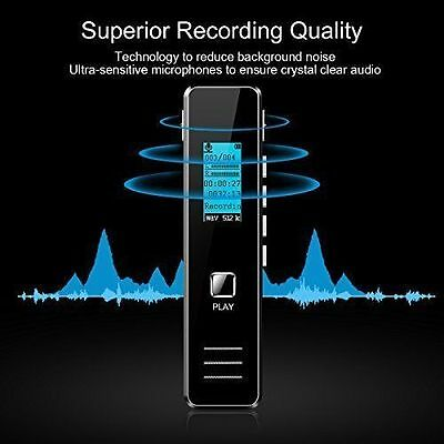 8G Digital Voice Recorder Portable Audio Dictaphone Clear Sound Recording device