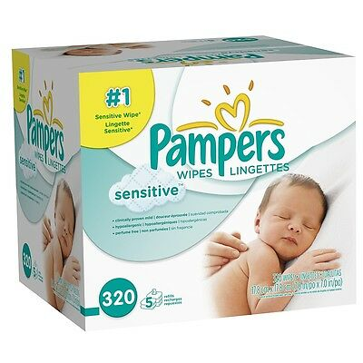 Pampers Stages Sensitive Wipes Refill 320 count