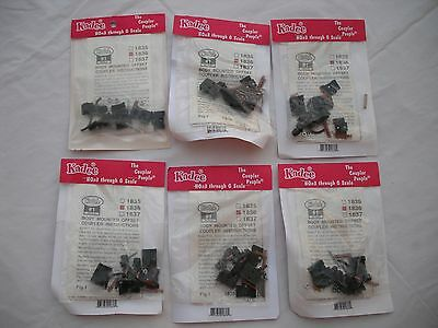 Lot of 6 New Packs of Kadee 1836, Body Mounted Offset Coupler, #1 Gauge #1 Scale