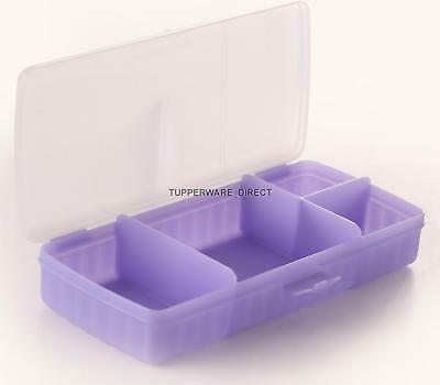 Tupperware Sandwich Keeper Plus - Light Blue & Clear- 4 compartments -Free Shipp