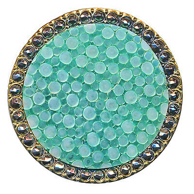 Button--Large RARE Late 19th C. Shagreen and Mirror-bright Cut Steels