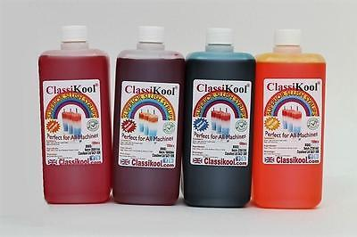 Classikool 4 x 1 Litre Slush Puppy Syrup - 6/7: 1 Mix 78 Flavours & 8 Colours